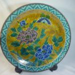 九谷焼 飾り大皿 作名有 直径約36 3cm 割れ無