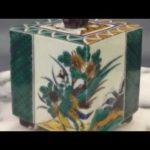九谷焼 2 7号香炉「 竹に鳥 」 伝統工芸品 加登明雄 作 【 お香 置物 仏事 法要 にも おすすめ 】